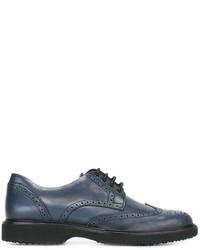 Zapatos oxford de cuero azules de Hogan