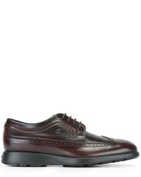 Zapatos oxford de cuero burdeos de Hogan
