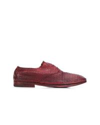 Zapatos oxford de cuero burdeos de Premiata
