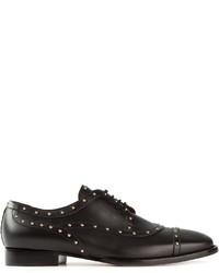 Zapatos Oxford de Cuero con Tachuelas Negros de Valentino Garavani
