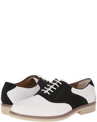 Zapatos oxford de cuero en blanco y negro
