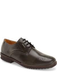Zapatos oxford de cuero en gris oscuro