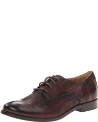 Zapatos oxford de cuero en marrón oscuro de Frye
