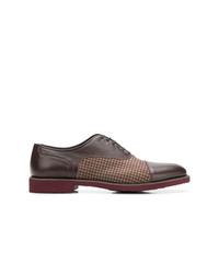 Zapatos oxford de cuero en marrón oscuro de Moreschi