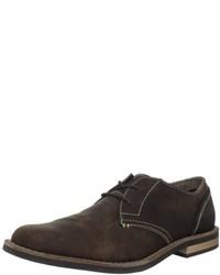 Zapatos oxford de cuero en marrón oscuro de Original Penguin
