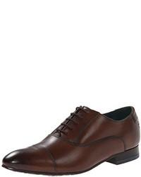 Zapatos oxford de cuero en marrón oscuro de Ted Baker