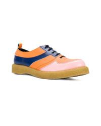 Zapatos oxford de cuero en multicolor