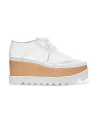 Zapatos oxford de cuero gruesos blancos