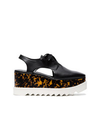 Zapatos oxford de cuero gruesos negros de Stella McCartney
