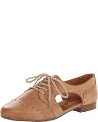 Zapatos oxford de cuero marrón claro