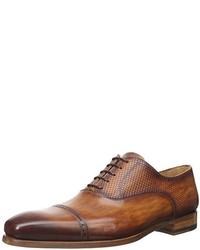 Zapatos oxford de cuero marrón claro de Magnanni