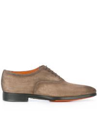 Zapatos Oxford de Cuero Marrón Claro de Santoni
