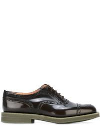 Zapatos Oxford de Cuero Marrón Oscuro de Church's