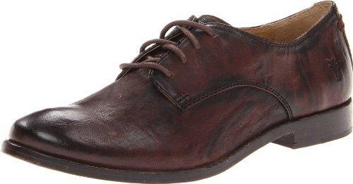 Zapatos Oxford de Cuero Marrón Oscuro de Frye