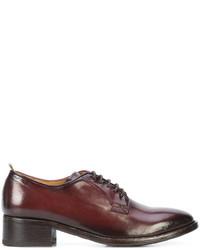 Zapatos Oxford de Cuero Marrón Oscuro de Officine Creative