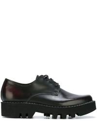 Zapatos Oxford de Cuero Marrón Oscuro de Sofie D'hoore