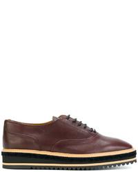 Zapatos Oxford de Cuero Marrónes de Castaner