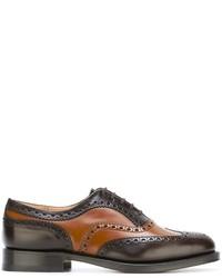 Zapatos oxford de cuero marrónes de Church's