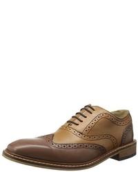 Zapatos oxford de cuero marrónes de Giorgio Brutini