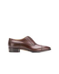 Zapatos oxford de cuero marrónes de Gucci