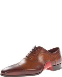 Zapatos oxford de cuero marrónes de Magnanni