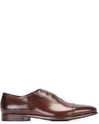 Zapatos oxford de cuero marrónes de Paul Smith