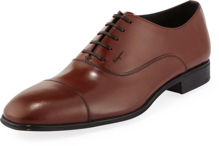 3926dc676afbd Zapatos Oxford de Cuero Marrónes de Salvatore Ferragamo  dónde ...