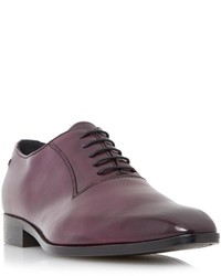 Zapatos oxford de cuero morado oscuro