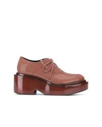 Zapatos oxford de cuero naranjas de MM6 MAISON MARGIELA
