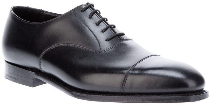 Zapatos de cuero Crockett de negros Jones oxford 64qvZ