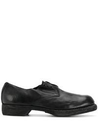 Zapatos Oxford de Cuero Negros de Guidi