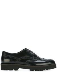 Zapatos Oxford de Cuero Negros de Hogan