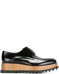 Zapatos oxford de cuero negros de Jil Sander