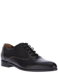 Zapatos oxford de cuero negros de Lanvin