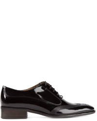 Zapatos oxford de cuero negros de Salvatore Ferragamo