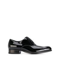 Zapatos oxford de cuero negros de Tom Ford