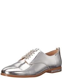 Zapatos Oxford de Cuero Plateados de Calvin Klein