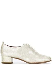 Zapatos oxford de cuero plateados de Marc Jacobs