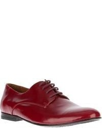 Zapatos oxford de cuero rojos