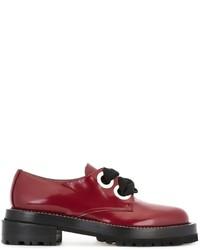 Zapatos oxford de cuero rojos de Marni