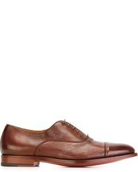 Zapatos oxford de cuero rojos de Santoni