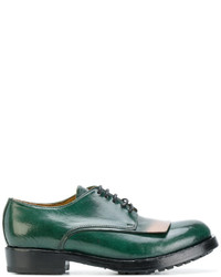 Zapatos oxford de cuero verdes de Officine Creative