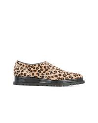 Zapatos Oxford de Leopardo Marrón Claro de Sacai
