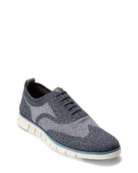 Zapatos oxford de lona azul marino