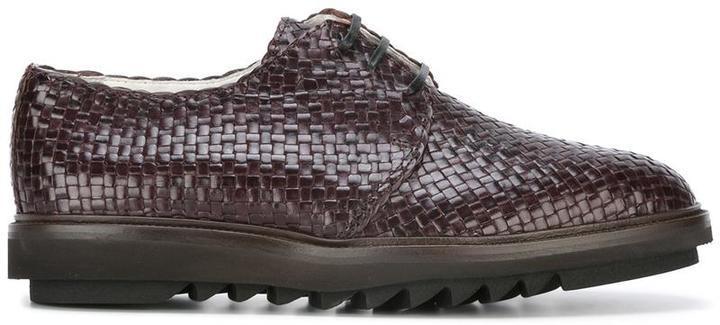 Zapatos Tejidos En Marrón Oscuro De Dolce Gabbana Mex12956